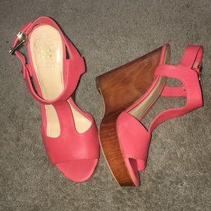 Vince Camuto Mathis Salmon Pink Platform Sandals
